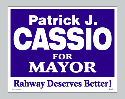 Cassio For Mayor - Lawn Signe Image